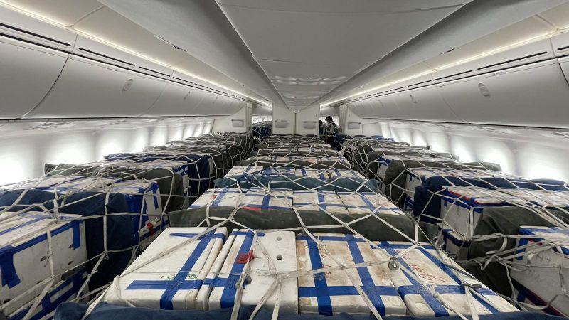 Lần đầu tiên Vietnam Airlines bố trí riêng một siêu máy bay chỉ để chở vải thiều