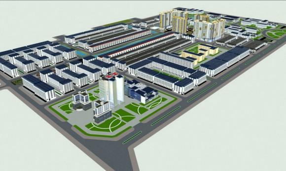 Phối cảnh dự án Khu đô thị mới và Khu công nghệ thông tin tập trung TP Cần Thơ