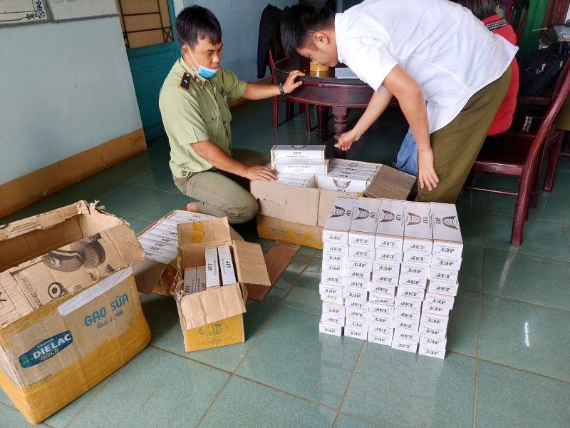 Cục QLTT tỉnh Gia Lai tạm giữ 1.480 bao thuốc lá điếu hiệu JET nhập lậu