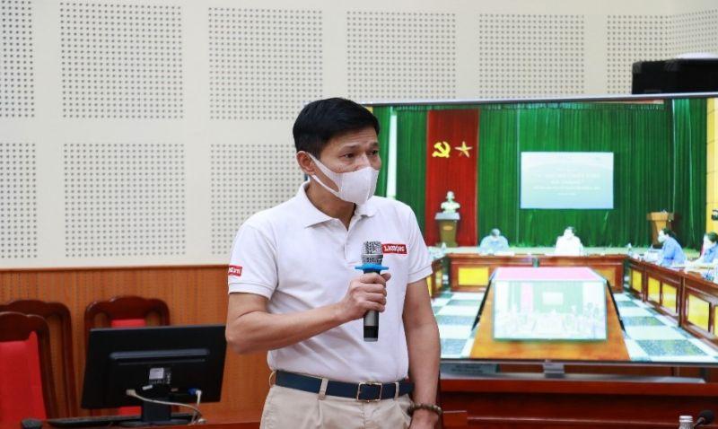 Đ/c Nguyễn Ngọc Hiển, Tổng Biên tập Báo Lao động, Giám đốc Quỹ Tấm lòng Vàng phát biểu
