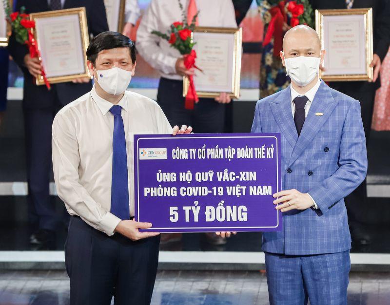 Cen Group ủng hộ 5 tỷ đồng vào Quỹ Vaccine phòng chống Covid-19 vào tối 5.6.2021, tại Hà Nội
