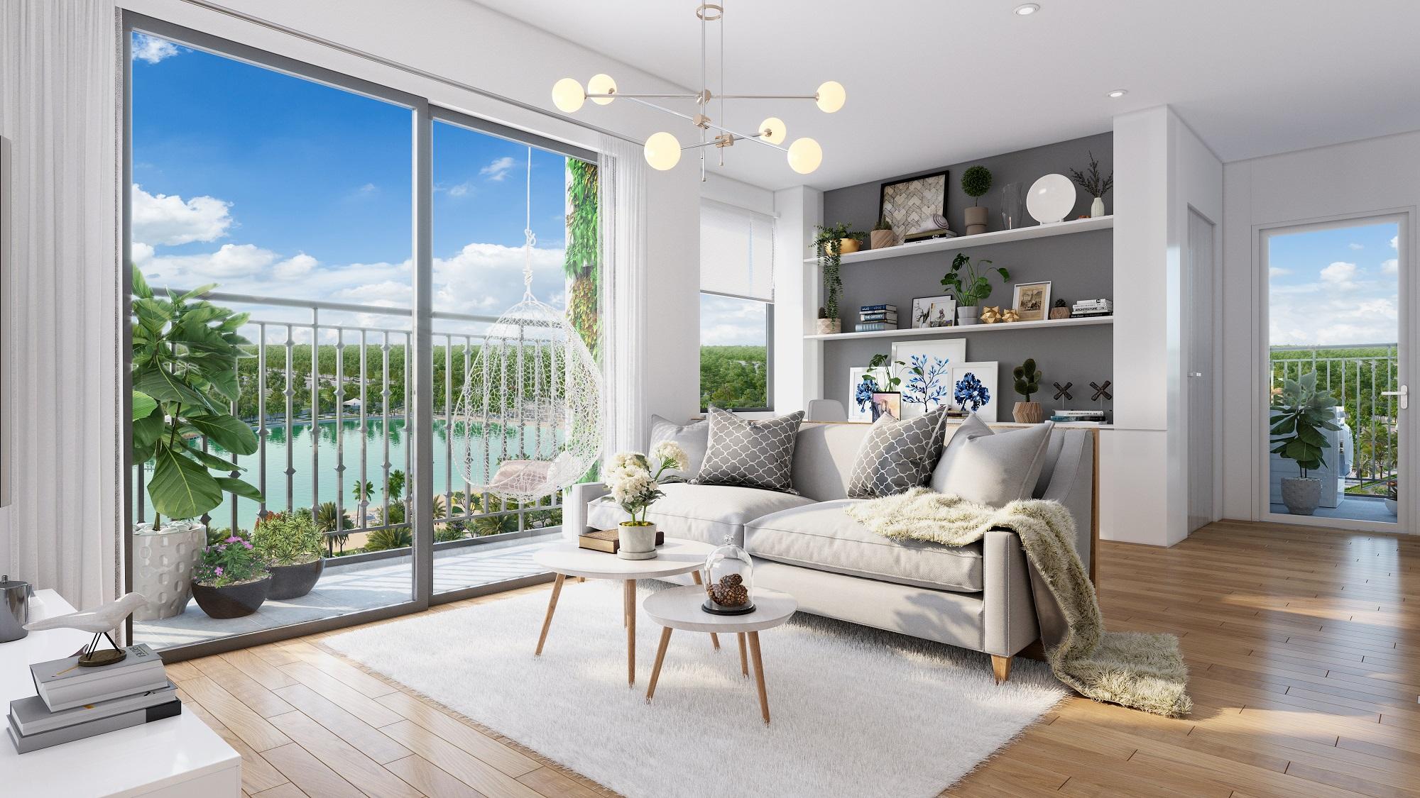 Phong cách thiết kế căn hộ theo kiểu Tây Âu với không gian mở