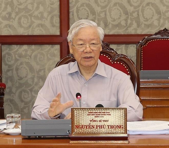 Tổng Bí thư Nguyễn Phú Trọng đề nghị toàn hệ thống chính trị tập trung cao nhất cho công tác phòng, chống dịch Covid-19