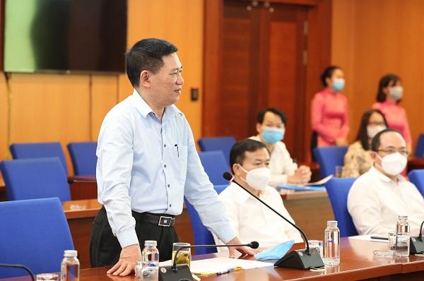 Ông Hồ Đức Phớc - Bộ trưởng Bộ Tài chính phát biểu tại buổi Lễ