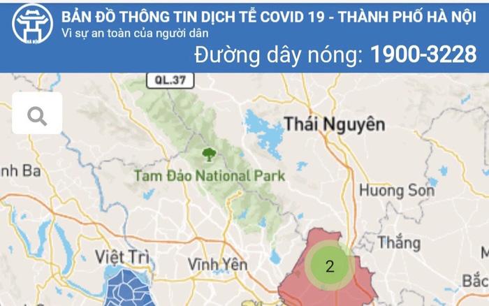 Bản đồ thông tin dịch tễ COVID-19 Hà Nội được truy cập trực tiếp tại địa chỉ https: https://covidmaps.hanoi.gov.vn/