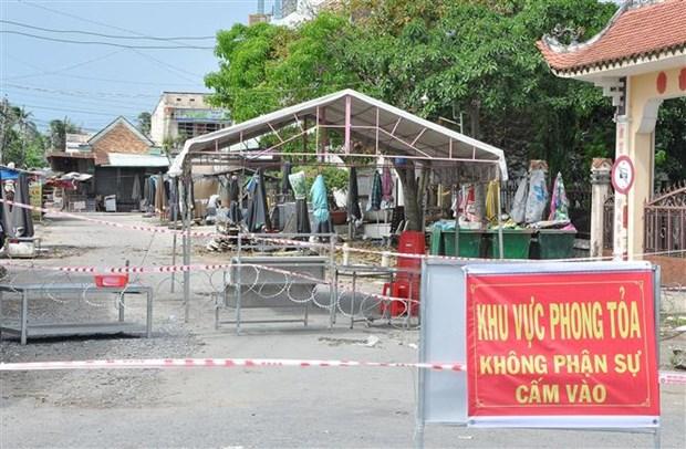 Chợ Ba Dừa ở xã Long Trung, huyện Cai Lậy, tỉnh Tiền Giang đã bị phong tỏa từ 0 giờ ngày 12/6 sau khi ghi nhận ca nghi nhiễm COVID-19 là tiểu thương ở chợ. (Ảnh: Hữu Chí/TTXVN)