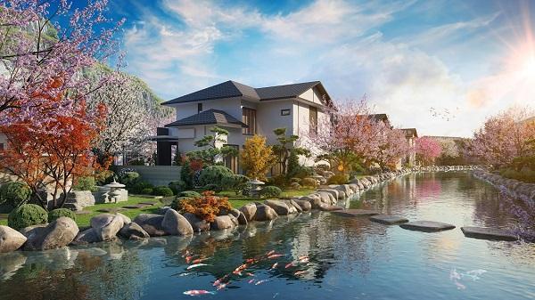 Phối cảnh Tổ hợp biệt thự Sun Onsen Village_Limited Edition do Sun Group phát triển