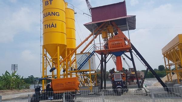 Chính quyền địa phương đã nhiều lần lập biên bản vi phạm đối với trạm trộn bê tông Quang Thái