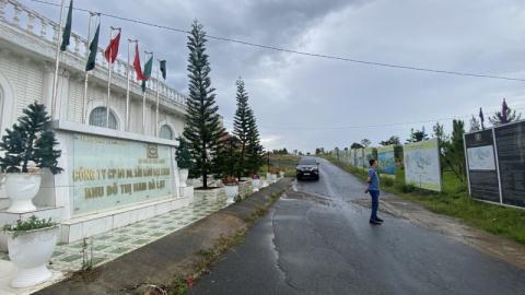 Công trình hội trường rộng 560m2 nằm trong KĐT Đại Ninh xây dựng chưa có giấy phép