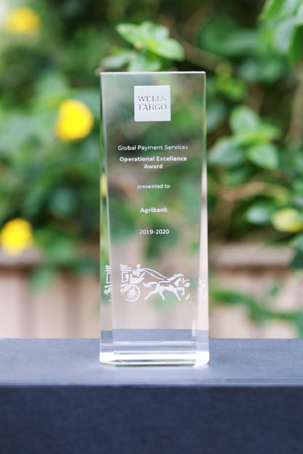 Agribank nhiều năm liền vinh dự được nhận các giải thưởng về thanh toán xuất sắc do các ngân hàng uy tín trên thế giới trao tặng