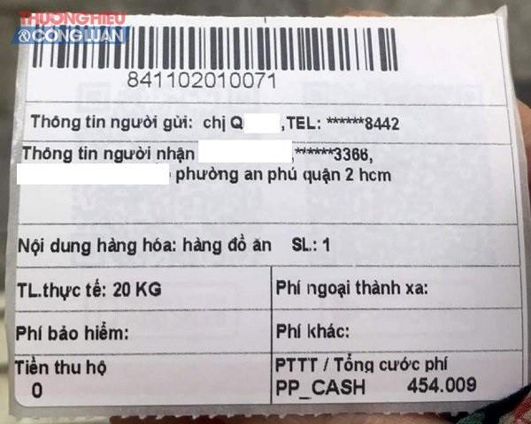Thông tin đơn hàng của chị Quỳnh. (Ảnh: PV)