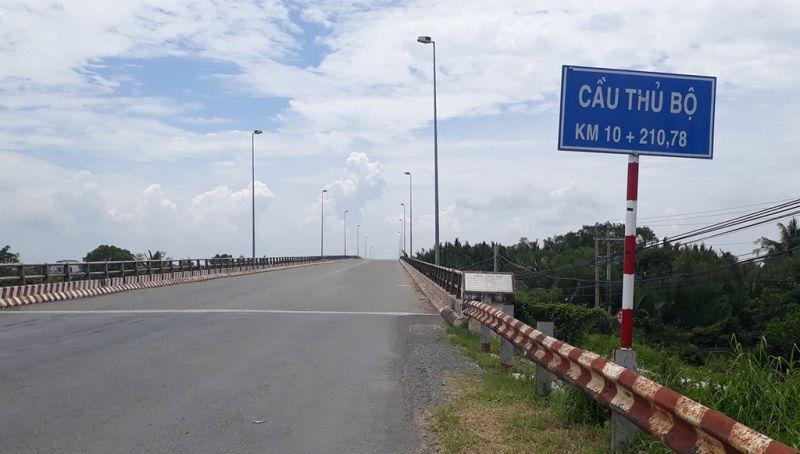 Cầu Thủ Bộ trên ĐT.830 sẽ tạm ngưng lưu thông ngày 15/7/2021