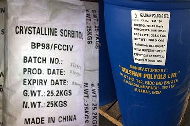 Bộ Công Thương sẽ áp dụng biện pháp chống bán phá giá tạm thời đối với một số sản phẩm sorbitol có xuất xứ từ Trung Quốc, Ấn Độ và Indonesia