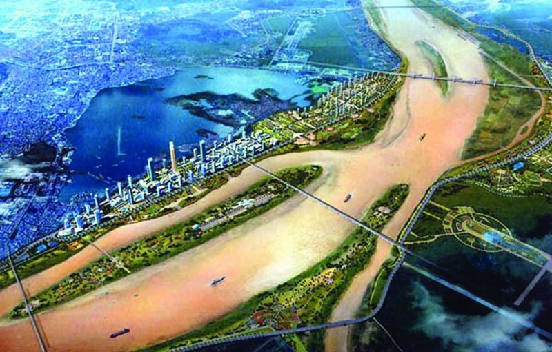Quy hoạch đô thị 2 bên bờ sông Hồng đang được thúc tiến độ