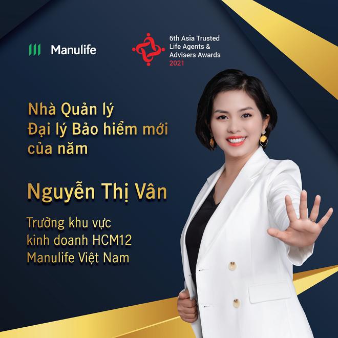 Bà Nguyễn Thị Vân, Trưởng Khu vực kinh doanh của Manulife Việt Nam