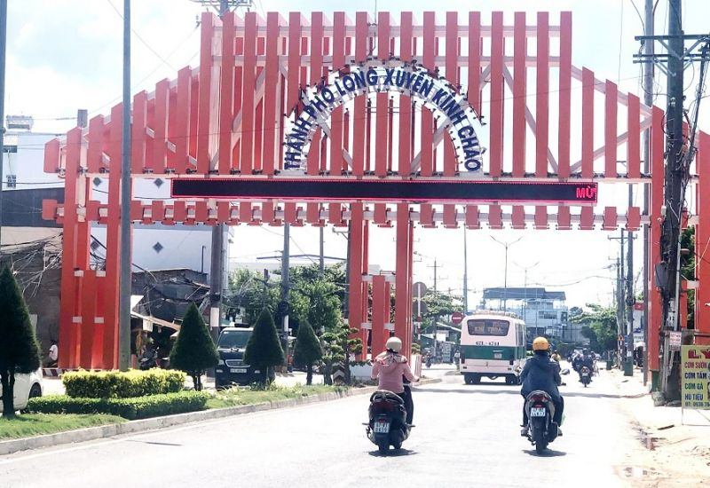 Cửa ngõ vào tỉnh An Giang trên tuyến Quốc lộ 91 ẢNH: Trần Ngọc