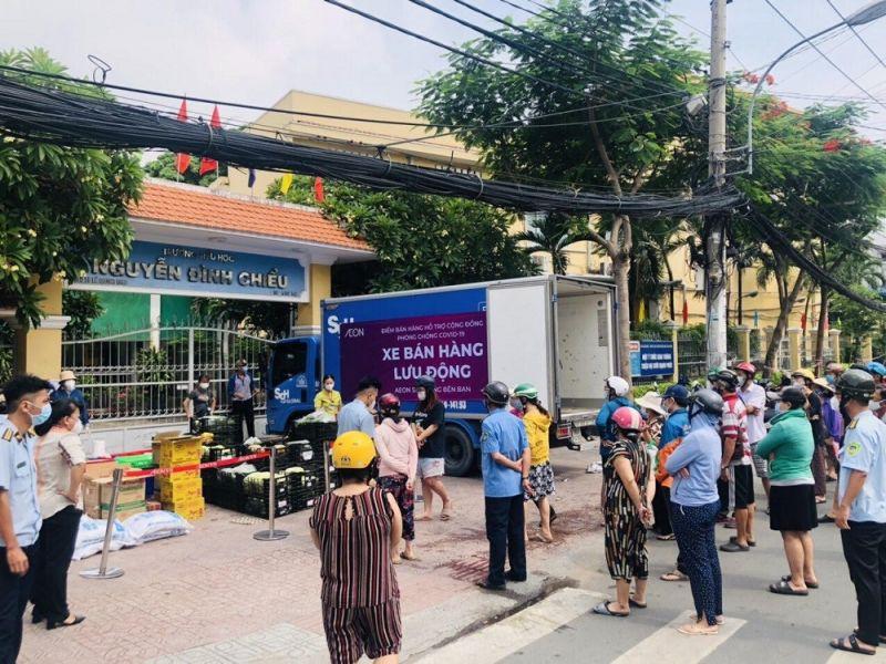TP Hồ Chí Minh tổ chức được 148 điểm bán hàng lưu động