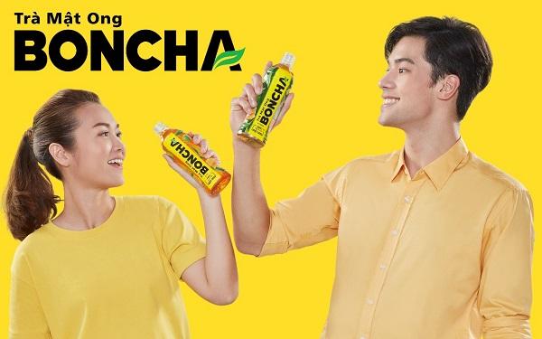 Trà mật ong Boncha thanh mát cuộn trào là thức uống yêu thích của nhiều bạn trẻ
