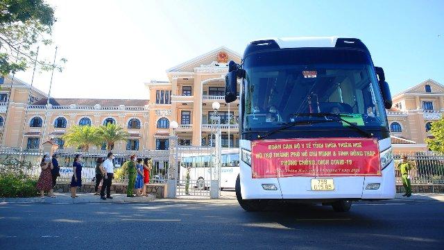 Đoàn Thầy thuốc của TT- Huế vào hỗ trợ TP Hồ Chí Minh chống dịch