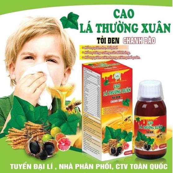 Sản phẩm siro Ho Cao lá Thường Xuân là 1 trong những sản phẩm có nguồn gốc thảo dược được người tiêu dùng đánh giá cao… Sản phẩm được phân phối bởi công ty dược phẩm G24