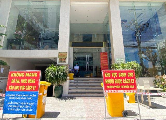 Khách sạn ở quận Sơn Trà được trưng dụng làm điểm cách ly người về từ vùng dịch.