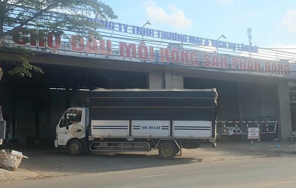 Từ ngày 19/7 - 22/7/2021, chợ đầu mối nông sản Phan Rang (Ninh Thuận) tạm dừng hoạt động