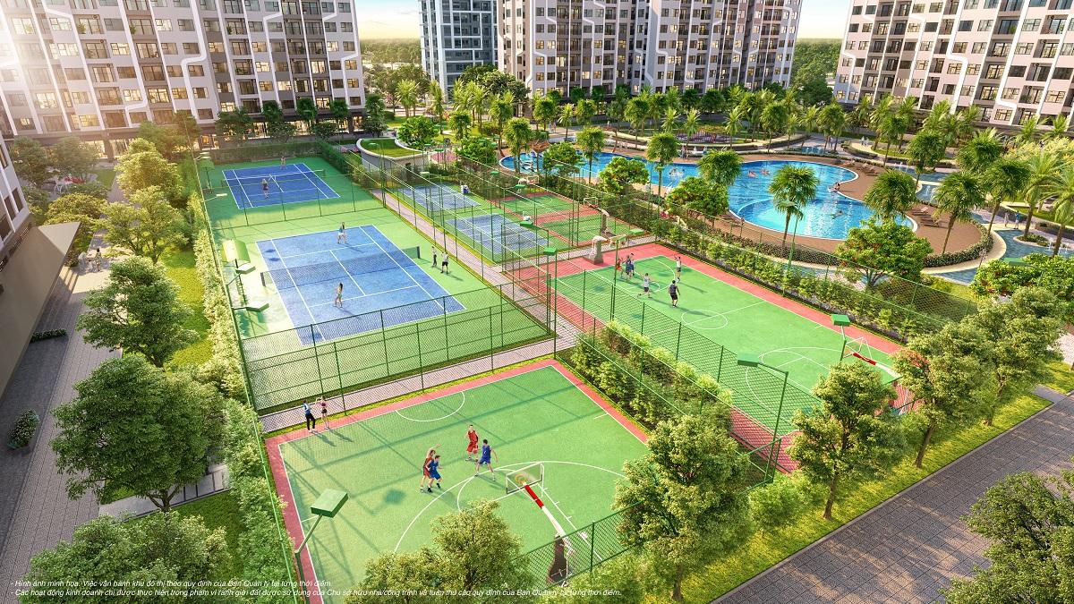 Hệ thống sân tập liên hoàn mang đến cuộc sống khỏe và năng động cho cư dân The Miami