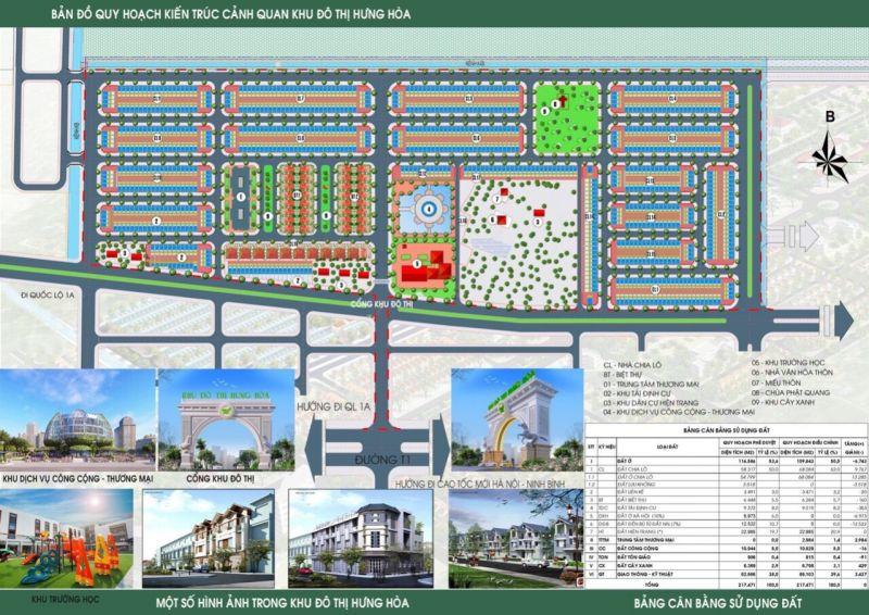 Bản đồ chi tiết dự án khu đô thị Hưng Hoà