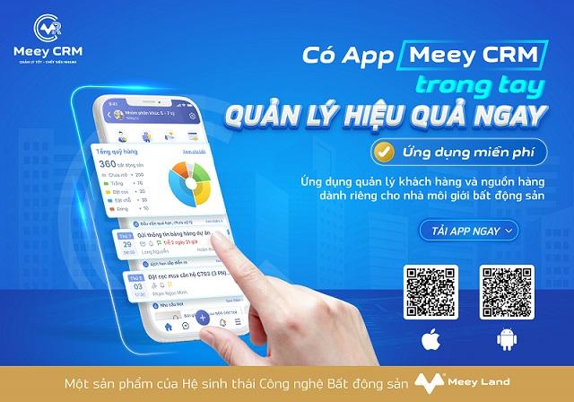 Meey CRM - ứng dụng quản lý khách hàng và nguồn hàng dành riêng cho nhà môi giới bất động sản