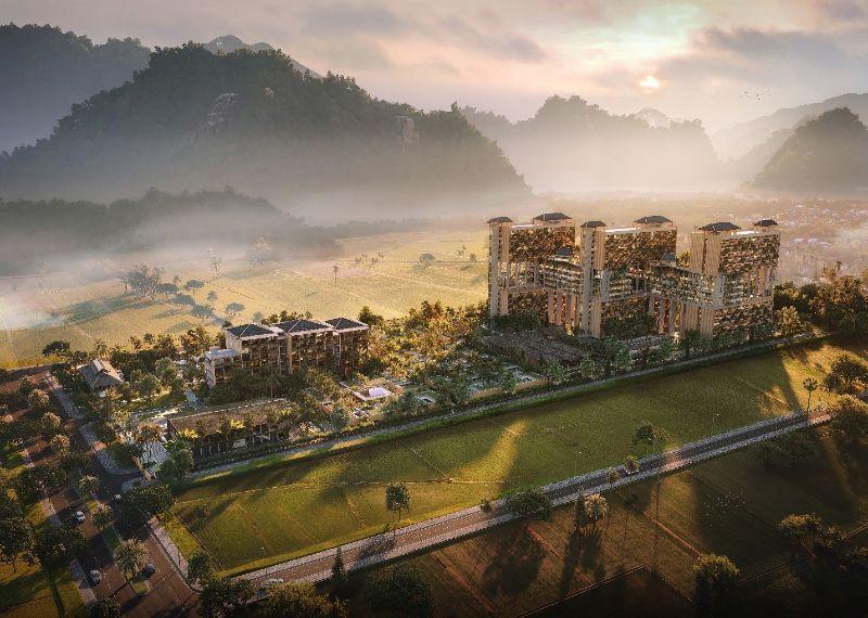 Tổng thể dự án Apec Mandala Sky Villas Kim Bôi