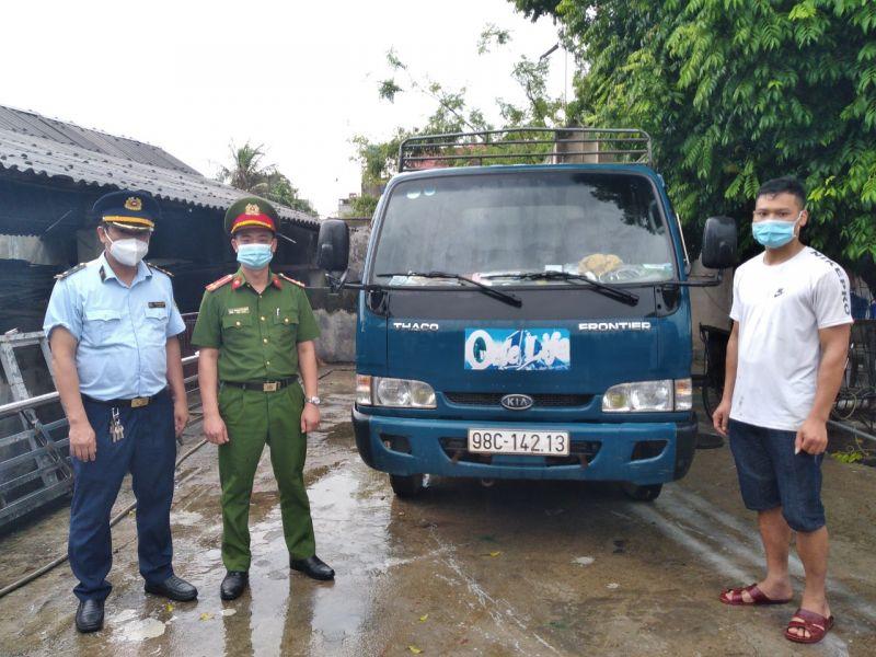 Lực lượng chức năng tỉnh Bắc Giang ngăn chặn gần 1,8 tấn lợn mắc dịch tả châu Phi