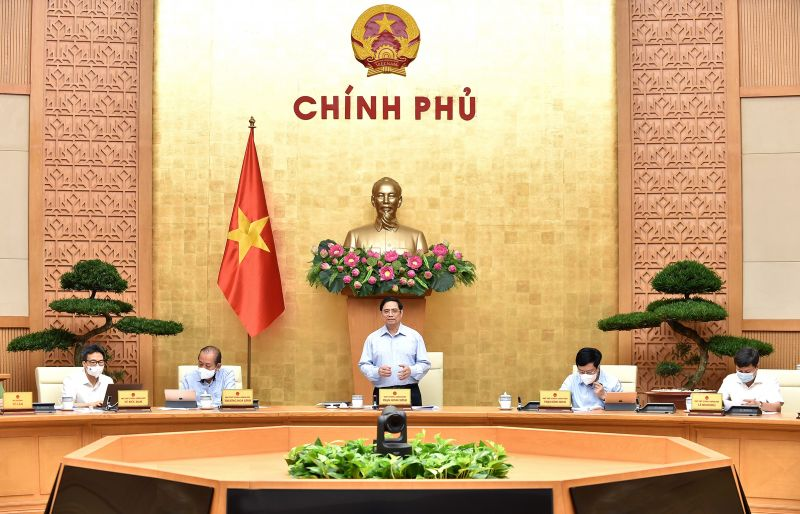 Thủ tướng Phạm Minh Chính phát biểu tại phiên họp Chính phủ - Ảnh: VGP/Nhật Bắc
