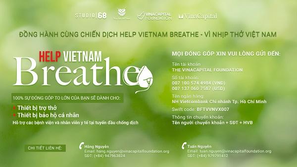 """VinaCapital Foundation triển khai chương trình """"Help Vietnam Breathe - Vì Nhịp thở Việt Nam"""""""
