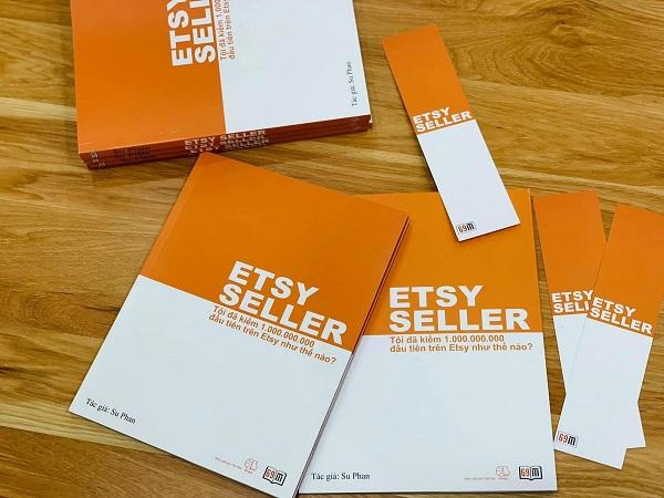 """Cuốn sách với tựa đề """"Etsy Seller: Tôi đã kiếm 1 tỷ đầu tiên trên etsy như thế nào?"""""""