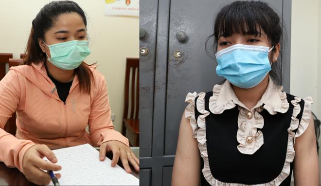 Hai đối tượng Nguyễn Thị Khánh Linh và Mai Thùy Dịu