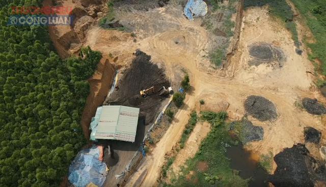 Ồ ạt xẻ đồi, bạt rừng xây dự án sơ chế bùn, rác hữu cơ phục vụ ngành nông nghiệp sạch khi chưa được cấp phép.