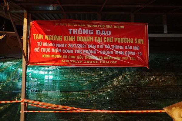 Chợ Phương Sơn- Tp. Nha Trang 21 giờ 00 ngày 25/7/2021