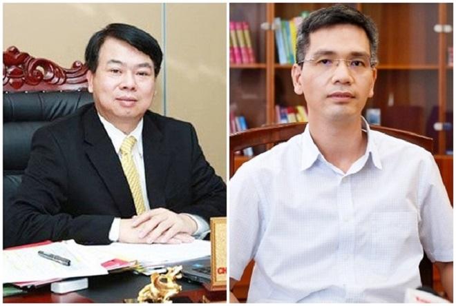 Ông Nguyễn Đức Chi (trái) và ông Võ Thành Hưng được bổ nhiệm giữ chức Thứ trưởng Bộ Tài chính
