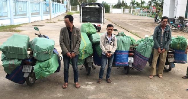 Một vụ vận chuyển thuốc lá điếu nhập lậu vừa bị bắt giữ tại An Giang. Ảnh: minh họa