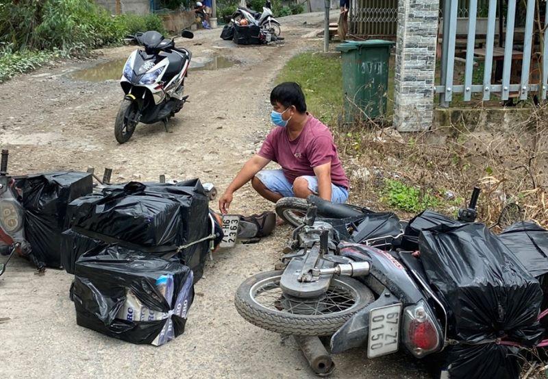 Nguyễn Tuấn Kiệt cùng phương tiện và tang vật tạm giữ