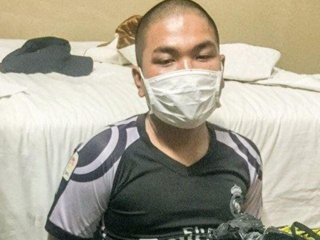 Đối tượng Hoàng Văn Khương bị bắt giữ: Ảnh CA