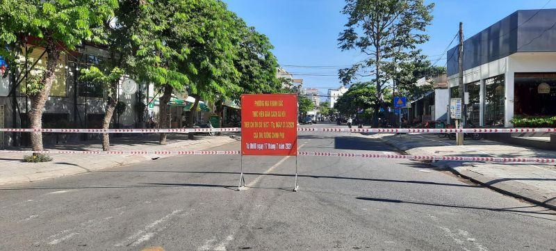 Một số con đường thuộc phường Hòa Khánh Bắc, quận Liên Chiểu đã bị phong tỏa