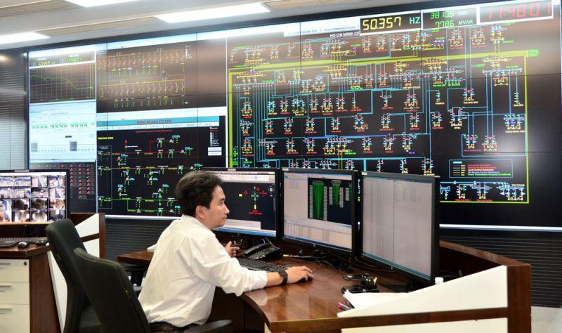 Trung tâm Điều khiển xa của EVNHCMC được thành lập vào năm 2017, là trung tâm điều khiển xa đầu tiên trong Tập đoàn Điện lực Việt Nam (ảnh chụp trước 27/4/2021)