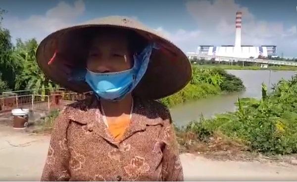 Bà Nguyễn Thị Lành người dân khu dân cư Mạc Ngạn phản ánh về nhà máy xả bụi làm ảnh hưởng đến cuộc sống của người dân