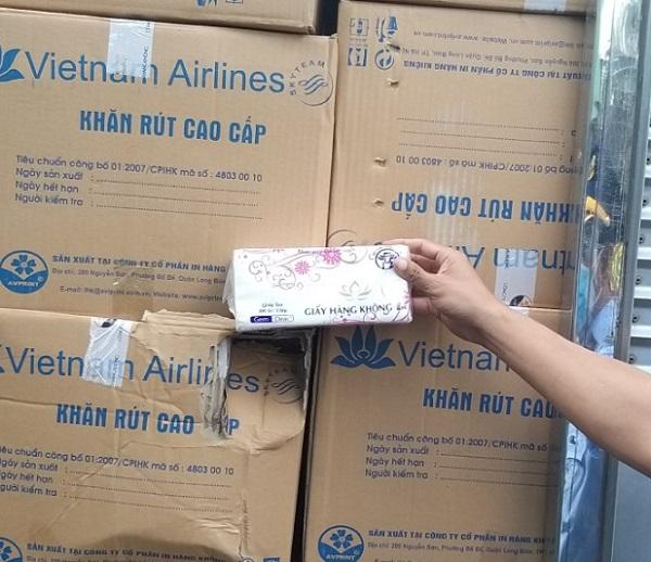 Số thùng hàng có dấu hiệu giả nhãn hiệu Vietnam Airlines