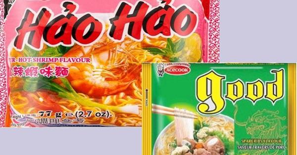 Sản phẩm miến và mì tôm chua cay Hảo Hảo vừa bị thu hồi do có chứa Ethylene Oxide
