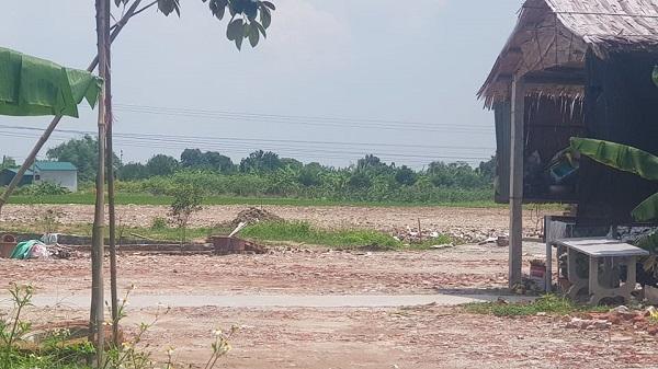 Công ty Nhung Xuyến tự ý san lấp hơn 10.000 m2 đất khi chưa được cấp có thẩm quyền cho thuê đất, bàn giao đất.