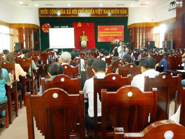 Một buổi tập huấn, trao đổi về nghiệp vụ, hướng dẫn sử dụng hoá đơn điện tử của Cục Thuế tỉnh Thừa Thiên Huế