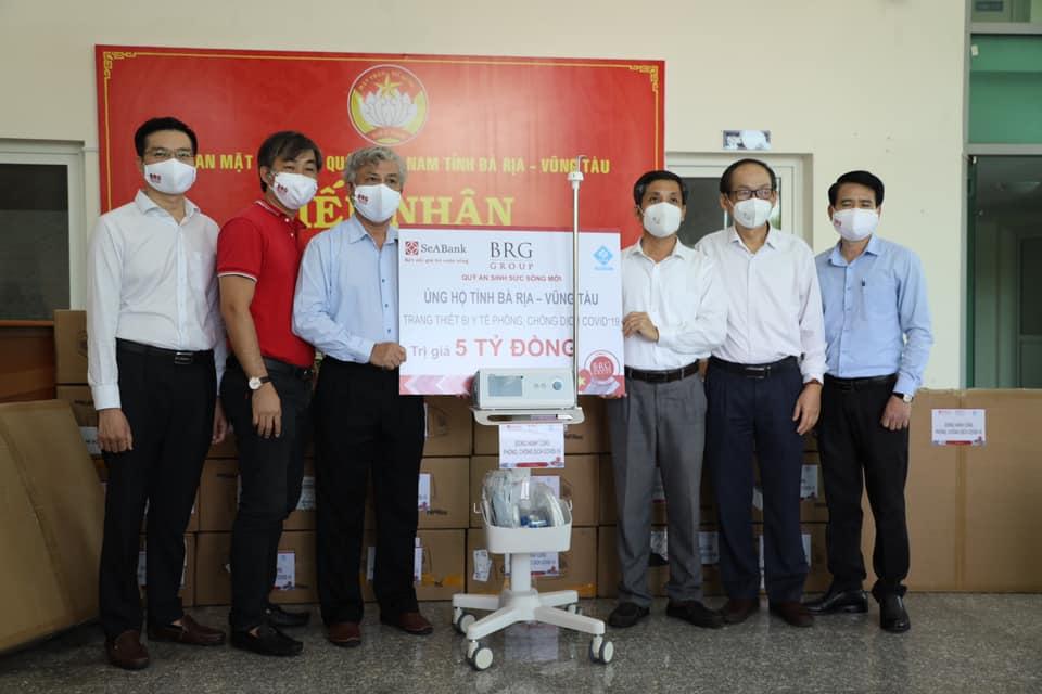 SeABank va Tập đoàn BRG ủng hộ tỉnh Bà Rịa Vũng Tàu thiết bị y tế