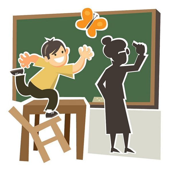 Trẻ tăng động giảm chú ý rất khó ngồi yên một chỗ